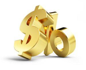 35639090 - interest, gold dollar sign, on a white background 3d illustrations