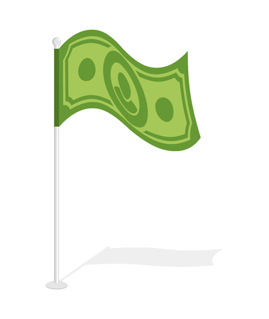 62790458 - dollar flag. financial paced checkbox. sign for capitalists. capitalists symbol