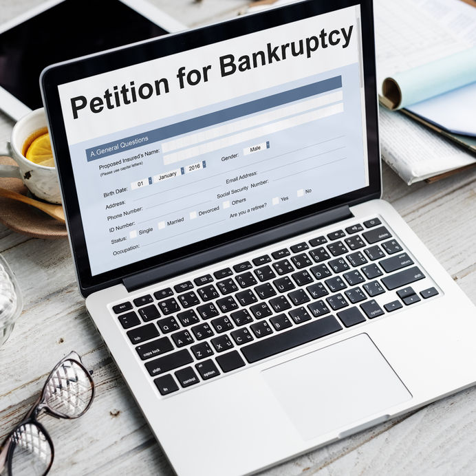 64216561 - petition bankruptcy debt loan overdrawn trouble concept