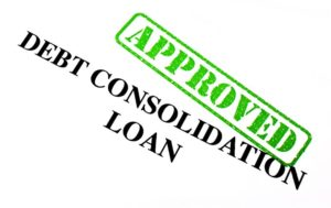 17675910 - close-up of an approved debt consolidation loan letter.